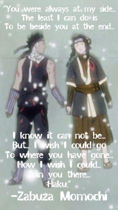 Zabuza and Haku! So sad! Naruto