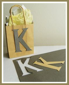 Gift Bag Letters | DIY gift wrap & decorative bag ideas.