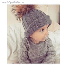 Shop our best selling 🐰GREY🐰 Luxury Fur Pom Pom Hat online now. Also available in Mummy size >>> www.dollymixboutique.com ❄️