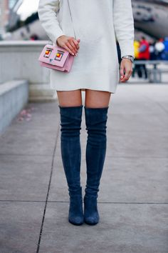 I'm not sure which accessory is my favourite these gorgeous Stuart Weitzman Boots or this beautiful Fendi bag?