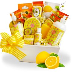 Lavender spa gift basket spa gifts lemon spa gift basket negle Image collections