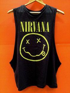 nirvana tshirt nirvana tank top black music rock by Hobbyshirts, $14.99