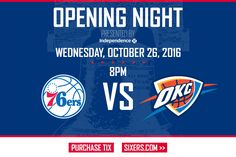The season is starting this week! #visitphilly #Sixers #OpeningNight  #Philly #philadelphia Visit Philly, Philadelphia Sports, Opening Night