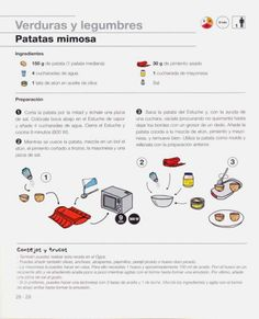 Lku & Fundacin Alicia - De la cocina a la mesa en 10 minutos.pdf Watches, Vegetables, Food, Easy Food Recipes, Meals, Sweets, Illustrated Recipe, Wrist Watches, Tag Watches