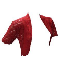 Red Crochet Shrug Bolero