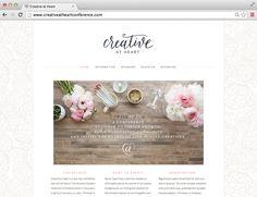 Brand + Site Design: Creative At Heart