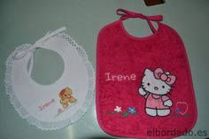 Babero Hello Kitty con nombre bordado