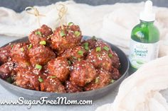 Low Carb Sweet and Sour Cocktail Meatballs
