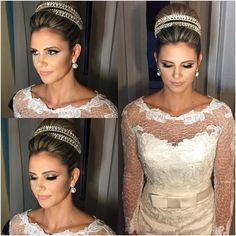 Jamille Schramm  | vestido Rosa Clará para @elizabethmarienoivas #noiva #bride #makeup #motd #maquiagem #wedding by dalmomakeup