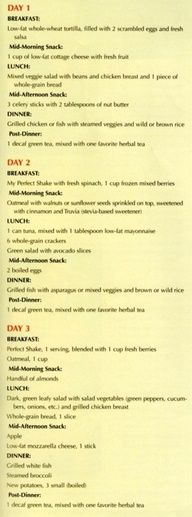 healthy meal plan fitness