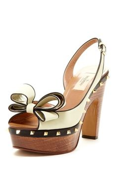 Valentino Bow Wood Heel Pump by In Love With Shoes on @HauteLook