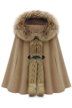 Cape coat.