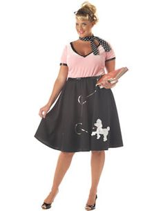 50s Sweetheart Costume (Plus Size).  http://www.getiton-fancydress.co.uk/adult-costumes/through-the-decades/1950s-rock-n-roll/50s-sweetheart-costume-plus-size#.UnzveCcUWSo
