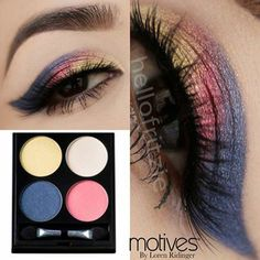 Get colorful with this look by Hellofritzie using Motives for La La Behind The Scenes Palette!  Shop it here: http://www.motivescosmetics.com/shoppingjinx/product/motives-for-la-la-behind-the-scenes-palette?id=2014MLBE&skuName=behind-the-scenes-palette&idType=sku