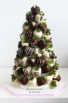 Chocolate strawberries tower