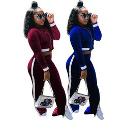 5019c5cd98fc Winter Women Fashion Gold Velvet Zipper Coat Casual Club Wide Leg Trousers  2pcs  fashion  clothing  shoes  accessories  womensclothing   jumpsuitsrompers ...