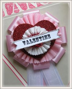 vintage inspired Valentine prize ribbon
