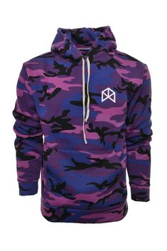 fc546db4cbc1 BMFIT Camouflage Pullover Hoodies - Purple