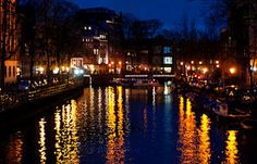 Beautiful photo of Amsterdam from Hearthwitch Cottage blog.