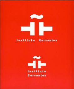 Logo Instituto Cervantes, diseño Enric Satué #design #graphic #spain