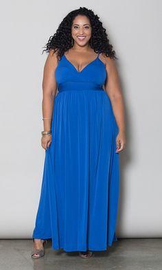 Sabrina Maxi Plus Size Dress (Divine)