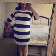 "ASOS Curve Dress Only worn onve striped dress, in black and white. Sleeves goes to elbows. And has zipper on back of neck. For reference I am 5""9 and wear a size 18/20.                                                               Listed Price is LOWEST 24Hrs Holds  All Sales are final. Will bundle for savings on shipping no Trade  no Paypal  no Lowball Offers ASOS Dresses"