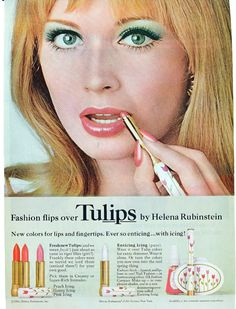 images of vintage make-up advertising 70s Hair And Makeup, 1970s Makeup, Vintage Makeup Ads, Retro Makeup, Hair And Makeup Artist, Vintage Beauty, Sixties Makeup, Mod Makeup, Vintage Ads