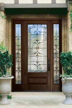 abcd564c6d3 Therma-Tru Classic-Craft Mahogany Collection of energy-efficient fiberglass  doors.
