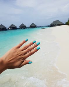 Island Blue | The color of the ocean  #drymanicure #nailartist #pavelinadragoinailartist