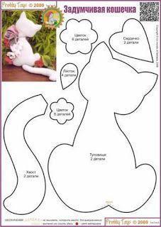 molde de almofada de gato de costas - Pesquisa Google