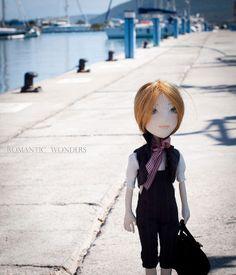 Handmade Ooak doll ''Mirto'' by Romantic Wonders Dolls Ooak Dolls, Art Dolls, Handicraft, Winter Hats, Kawaii, Romantic, Handmade, Decor, Fashion