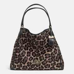 The Large Edie Shoulder Bag In Printed Haircalf from Coach