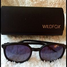 WILDFOX POPFOX SUNGLASSES Gently used. Large frames, with colorful tint. Wildfox Accessories Sunglasses