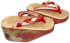 594ca49dbd4 Japanese Maiko traditional lacquered shoes