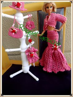 #Roupa #Acessórios #Doll #Crochet #Barbie #RaquelGaucha