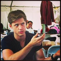 Aaron Tveit..Not sure what he's doing here..But it's CapTveiting <3