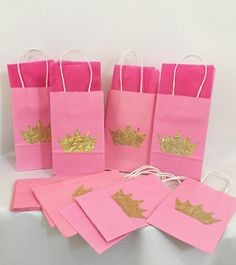 12pk Pink Gold Goo Bags By Theperfectpinata On Etsy