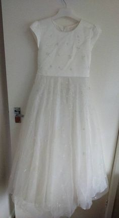 Girls Used Pearce Fionda II Ivory Flower Bridesmaid Occasion Wedding Dress Age11
