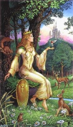 The Empress by David Higgins (Sacred Isle Tarot)