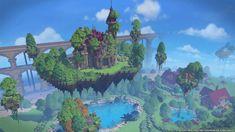 Minecraft Cliff House, Minecraft Bridges, Minecraft House Plans, Minecraft Creations, Minecraft Projects, Minecraft Crafts, Minecraft Designs, Minecraft Buildings, Imagination Art