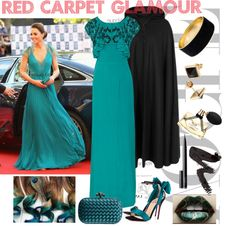 """""""Red Carpet Glamour"""" by econica on Polyvore"""