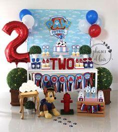 Pata de patrulla feliz cumpleaños Banner pata patrulla nombre