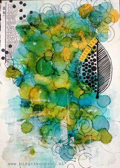 Stand out - birgit koopsen - art journal inspiration