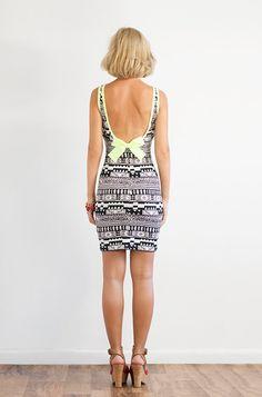 401db1309e9 Low Back Graphic Print Tank Dress by LanaStepulApparel on Etsy Low Back  Dresses