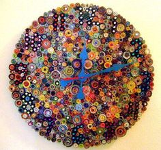 Recycled+Paper+Wall+Art   is WAY cool - AND recycled!!! Large Recycled Paper Wall Clock Decor ...