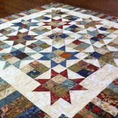 "Something new from something old- William Morris fabrics used in a ""plan c"" mini quilt."