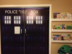 Doctor Who closet doors