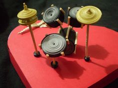 3-D quilled drum kit