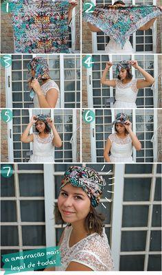 Tem no meu quintal: {sete maneiras} Como amarrar lenços na cabeça