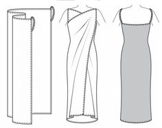 cómo coser un vestido-para arriba-sin-Patrones